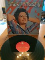 Sing Along With Connie Francis Connie Francis vinyl LP album record USA 8002