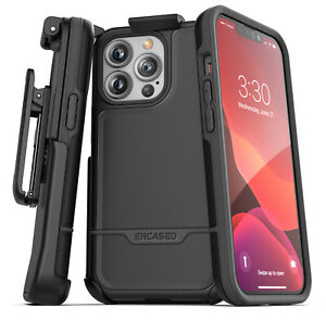 iPhone 13 Pro Max Belt Clip Case Protective Phone Case with Holster (Black)