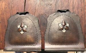 Craftsman Studios hand hammered copper arts and crafts bookends
