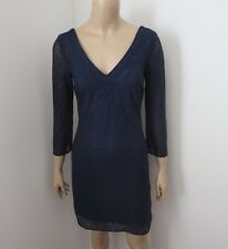NEW Lilly Pulitzer Alden Lace Tunic Shift Dress Size XS Navy Blue 3/4 Sleeves