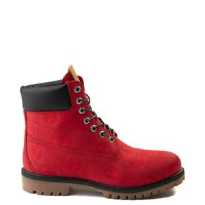 """Timberland 6"""" Premium Patch Boot  Red Size 12 (Display)"""