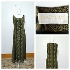 Dana Buchman Dress Women's 8 Silk Green Snake Skin Print Top Grade inv#z9968