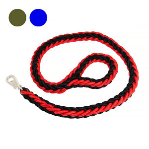 DOG STRONG DURABLE BRAIDED THICK ROPE LEAD PET LEASH WALK (PREMIUM QUALITY)