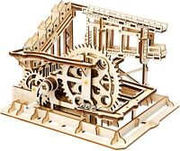 ROKR 3D Wooden Puzzle Cog Coaster Mechanical Gears Set Model Kit Marble Run Set