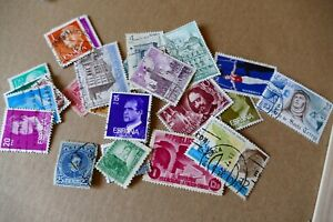 23 Spain/ spanish postage stamps philately philatelic kiloware postal Europe