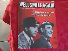 WW11 Sheet Music Flanagan &Allen We'll Smile Again