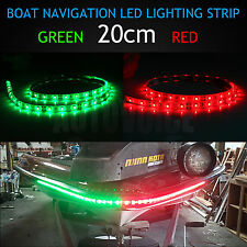 20cm Mixed LED Red Green Waterproof Navigation Light Yacht Marine Speed Boat 12V