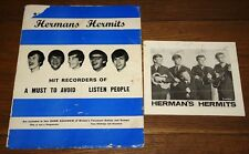 HERMAN'S HERMITS AUTOGRAPH HAND SIGNED PROMO PHOTOGRAPH UAAC REGISTERED DEALER