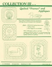 Brinkmann Collection III Quilted Frames & Appliques 10 Patterns all FULL SIZE