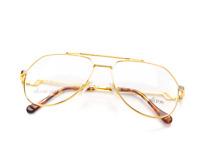 Vintage Hilton Exclusive 14 1 20Kt Gold Pilot Unisex Eyeglasses Frame Lunettes