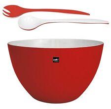 Zak design XXL Bol Duo rouge blanc en Set avec couverts pour salade Camping 7,5