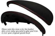 RED STITCH FITS HONDA ACCORD MK7 03-07 SPEEDO GAUGE HOOD LEATHER SKIN COVER ONLY