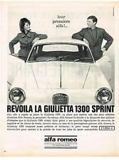 PUBLICITE ADVERTISING   1964   ALFA ROMEO   la  GUILIETTA 1300 SPRINT