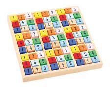 SUDOKU cm 18x18 in legno con dadi colorati, gioco matematico