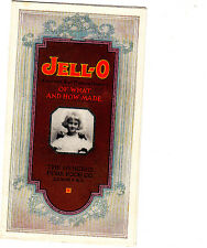 Jell-O Of What And How Made Genesee Pure Food Co Le RoyNY Vintage Color Brochure