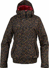BURTON WOMEN'S TABLOID SNOW JACKET TRUE BLACK LIBERTY DOT XSMALL NWT Reg $300.00