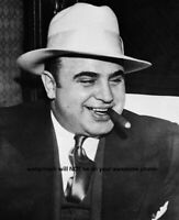 8x10 Al Capone PHOTO Cigar Chicago Gangster Poster Art Print