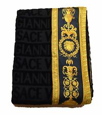 "Gianni Versace Large Towel Throw Unisex Beach 150x200 cm 60x79 "" Logo All Over"