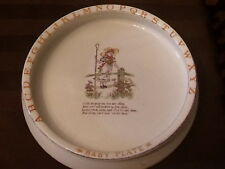 Vintage Late Victorian early Art Nouveau era ABC NURSERY PLATE- Little Bo Peep