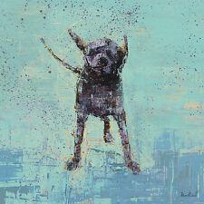 """LABRADOR RETRIEVER BLACK DOG FINE ART PRINT - """"Shake No. 3"""""""