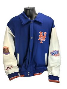 NEW YORK METS 2 TIME WORLD SERIES CHAMPIONS Varsity Jacket BLUE 2XL