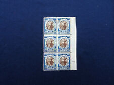 STAMPS VATICAN CITY 1946 COUNCIL OF TREAT BLOCK OF 6   BLUE 2.50  MINT MNH