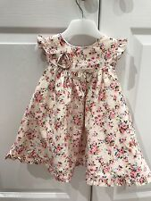 Floral Dress Fully Lined Pink 3-6 Months Very Pretty VGC