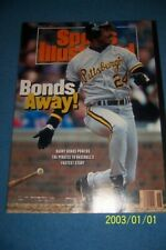 1992 Sports Illustrated PITTSBURGH PIRATES Barry BONDS No Label 1st Cover GIANTS