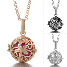 Angel Caller/Harmony Ball Necklace- Intricate Floral Design in Gold