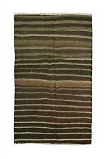 4x8 Oriental Vintage Wool Traditional Carpet Striped Handmade Area Kilim Rug