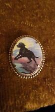 Black Labrador Retriever Dog vintage like brass pin brooch jewelry mydogsocks