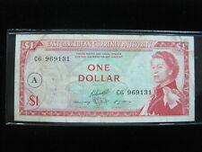 EAST CARIBBEAN ANTIGUA & BARBUDA $1 DOLLAR 1965 A 131# CURRENCY BANKNOTE MONEY