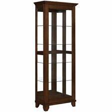 Coaster Curio Cabinet In Warm Brown Finish 950188