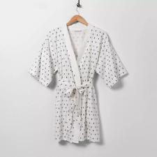 Hearth & Hand With Magnolia Women's Floral Black Cream Robe L/XL New Cotton