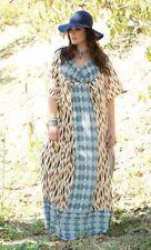 NWT Kiyonna Maxi 1 1x 14 16 Dress Bohemian Breeze 2Pc Layered Or Swim Cover Up