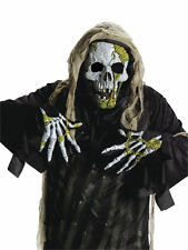 Adult Moss Mossy Zombie Skeleton Mask Hands Gloves Costume Accessory Halloween