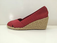 New Ralph Lauren Cecilia Red Shantung  Shoes sz 5.5M