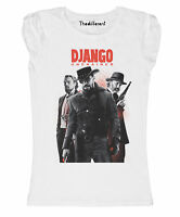 New T-Shirt Donna Fiammata Django Film Tarantino Idea Regalo