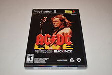 Rock Band Track Pack AC/DC Live Sony Playstation 2 PS2 Video Game New Sealed