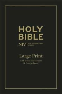 NIV Large Print Single-Column Deluxe Reference Bible Leather 9781473603479