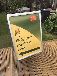 Large Aluminium A Snap Frame, Advertising Double Sided Shop Business Sign