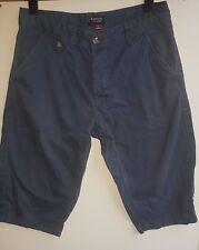 Kangol Men's Blue 100% Cotton  Long Shorts Size S
