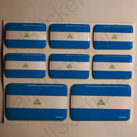 Pegatinas Nicaragua Pegatina Bandera Nicaragua Vinilo Adhesivo 3D Relieve Resina