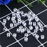 100X Round Acrylic Alphabet Letter Loose Beads DIY Bracelet Accessory Making A-Z