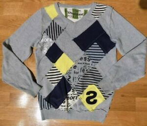 GUC DESIGUAL EURO BOUTIQUE BOYS 100% COTTON SWEATER PULLOVER HIGH END SZ 11 12
