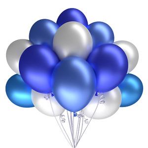 Luftballons Silber Gold Schwarz 50 Metallic Hochzeit Geburtstag Party Feier Bio