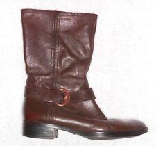GEOX bottes cavalières courtes cuir brun foncé P 38 TBE