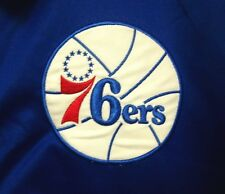 PHILADELPHIA 76ERS Hardwood Classics sewn XL warm-up jersey NBA jacket throwback
