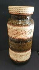 Large Bay-Keramic 660-40 German Floor Vase - Brown - 40 cm tall