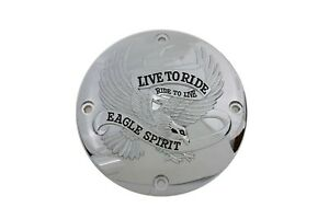 Chrome Live to Ride Eagle Spirit Derby Cover for 1994-2003 Harley Sportster XL